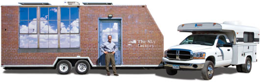 The Skymobile with presenter Ray Ward