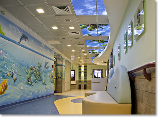 Sky Factory Installation at Yoseftal Pediatric Dept. in Eilat, Israel
