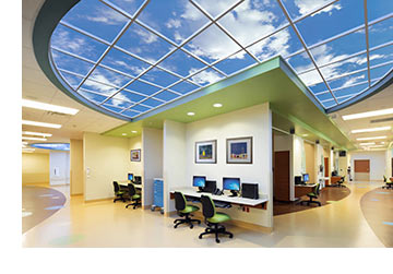 Luminous SkyCeiling at Finnish Institute of Occupational Health