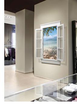 "55"" eScape shown in a retail environment"