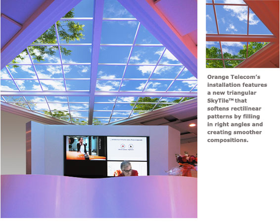 Custom Luminous SkyCeiling at Orange Telecom headquarters in Paris, France