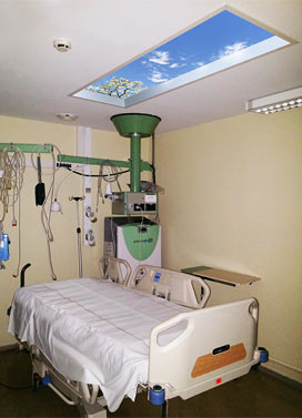 Personal Revelation SkyCeiling installed at Southern Lyon Hospital