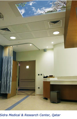 SkyCeiling installed at Sidra Medical Center, Qatar