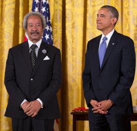 Allen Toussaint with Barack Obama in 2013