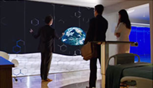 CBS's Pure Genius featured a wall-size high-tech monitor that dominated the space in patient rooms.