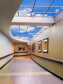Community North Hospital features one of the longest Luminous SkyCeiling in an interior corridor