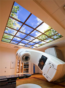 McCreery Cancer Center features a large 10' X 10' Luminous SkyCeiling