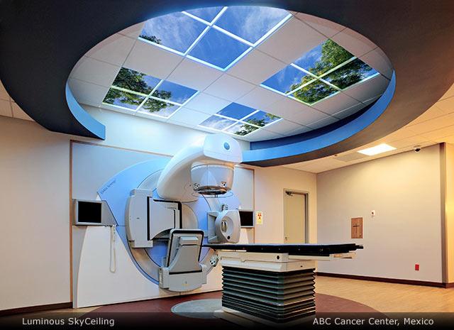 Sky Factory evidence-based healthcare art: indoor sky with ceiling tiles - Sky Factory Evidence-based Healthcare Art: Indoor Sky With Ceiling