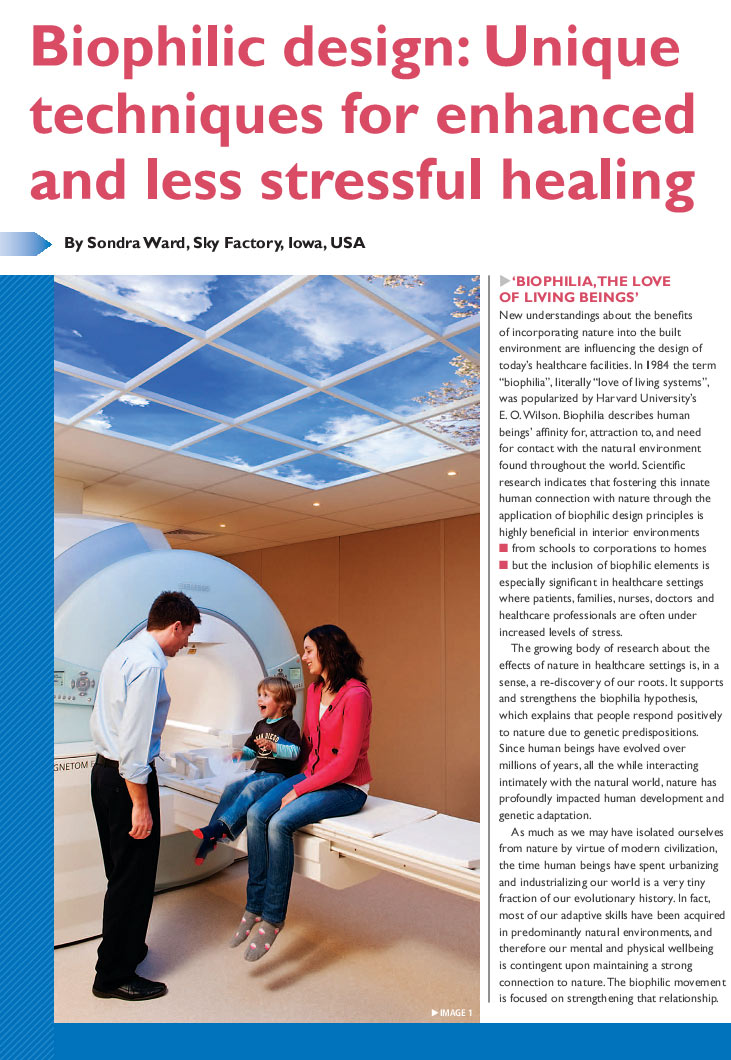 Hospital Build Magazine - Biophilic design article page 1