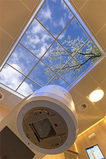 Solothurn Civic Hospital features a 6' x 8' Luminous SkyCeiling over their CT